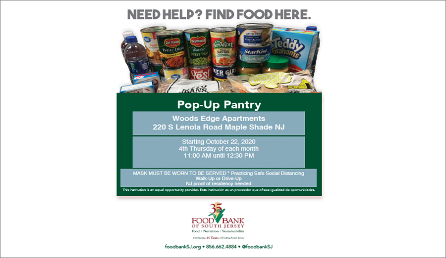 Woods Edge Apartment Homes to host Pop-Up Mobile Pantry Program